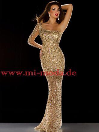dress gold prom dress ball gown dress evening dress starry night sequin dress jovani