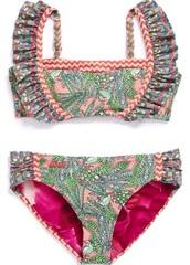 swimwear,bikini,color/pattern,ruffle