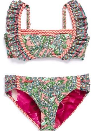swimwear bikini color/pattern ruffle