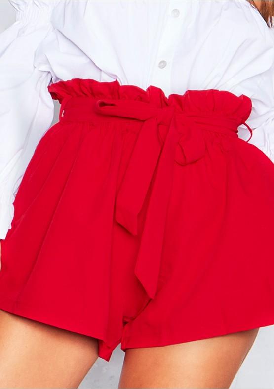 Olivia Red Paperbag Shorts