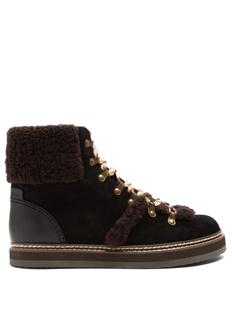 See by Chloe suede ankle boots ankle boots suede black brown shoes