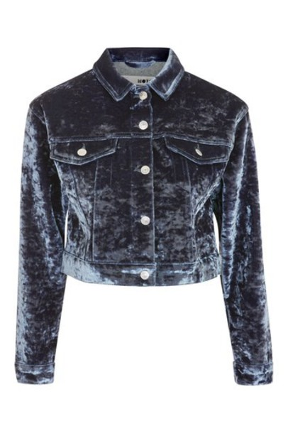 Topshop jacket denim jacket denim velvet