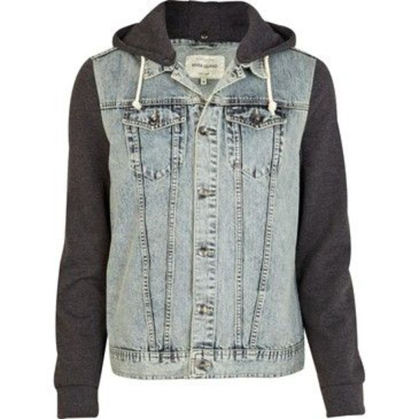 jacket jeans grey