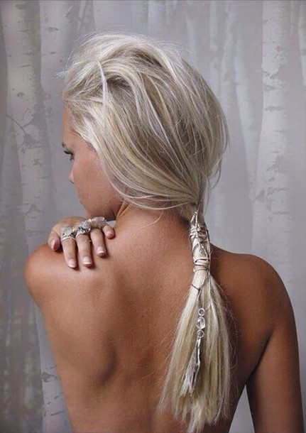 jewels silver hair accessory hairstyles hair accesssory beaded ponytail beach wedding. Black Bedroom Furniture Sets. Home Design Ideas