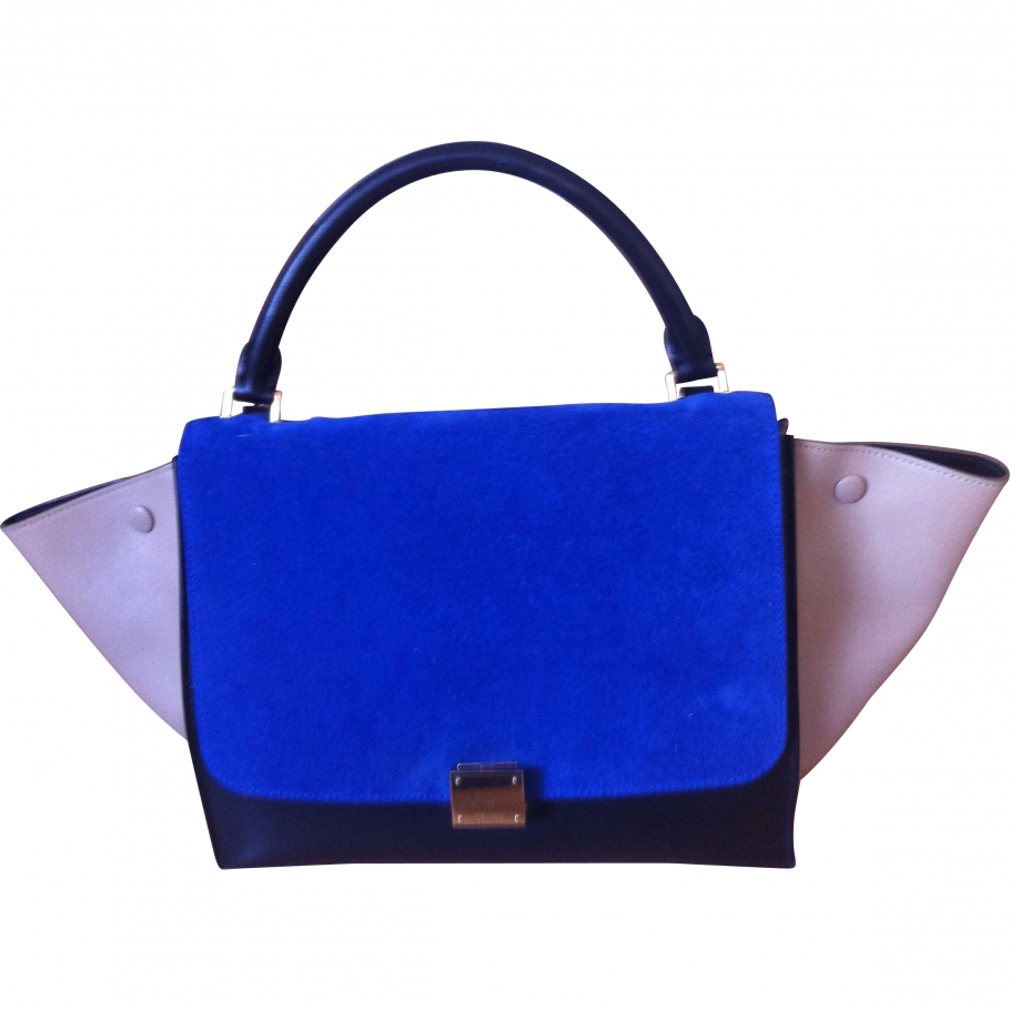 Trapeze CELINE Blue in Leather All seasons - 836299