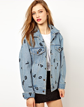 Ashish | Ashish Oversized Denim Jacket with Numbers Print at ASOS