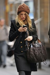 coat,gossip girl,blake lively,serena van der woodsen,hat