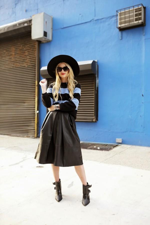 atlantic pacific blogger sunglasses top skirt shoes hat
