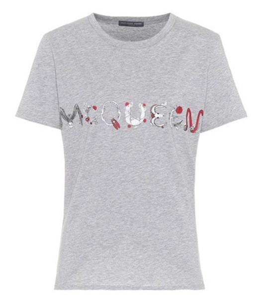 Alexander Mcqueen t-shirt shirt cotton t-shirt t-shirt cotton grey top