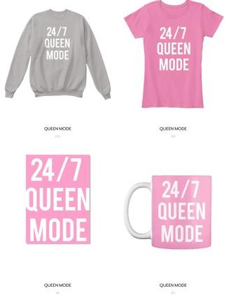 shirt pink queen