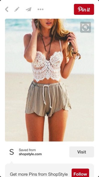 tank top summer summer outfits summer top lace top white lace corset top california hipster hippie chic beach sweetheart neckline