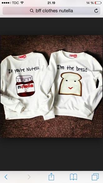 blouse nutella shirt bff sweaters