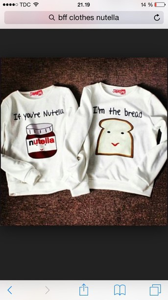 blouse nutella shirt bff sweaters