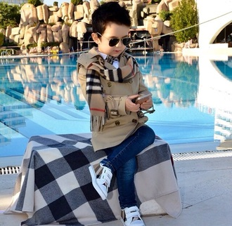 coat swag guys fashion sunglasses scarf jeans burberry kids fashion pea coat trench coat rayban bows bowtie sneakers aviator sunglasses
