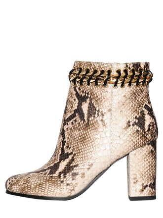 snake boots leather boots leather shoes