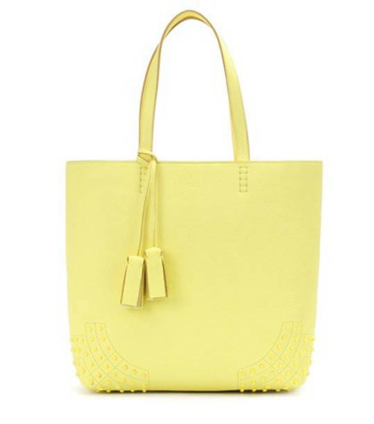 TOD'S leather yellow bag