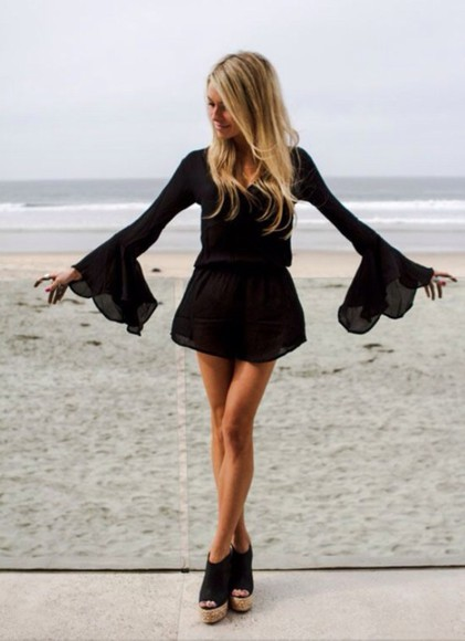 dress long dress black