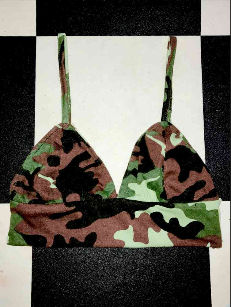 680d8714390132 SWEET LORD O MIGHTY! CAMO BABY BRALET IN GREEN