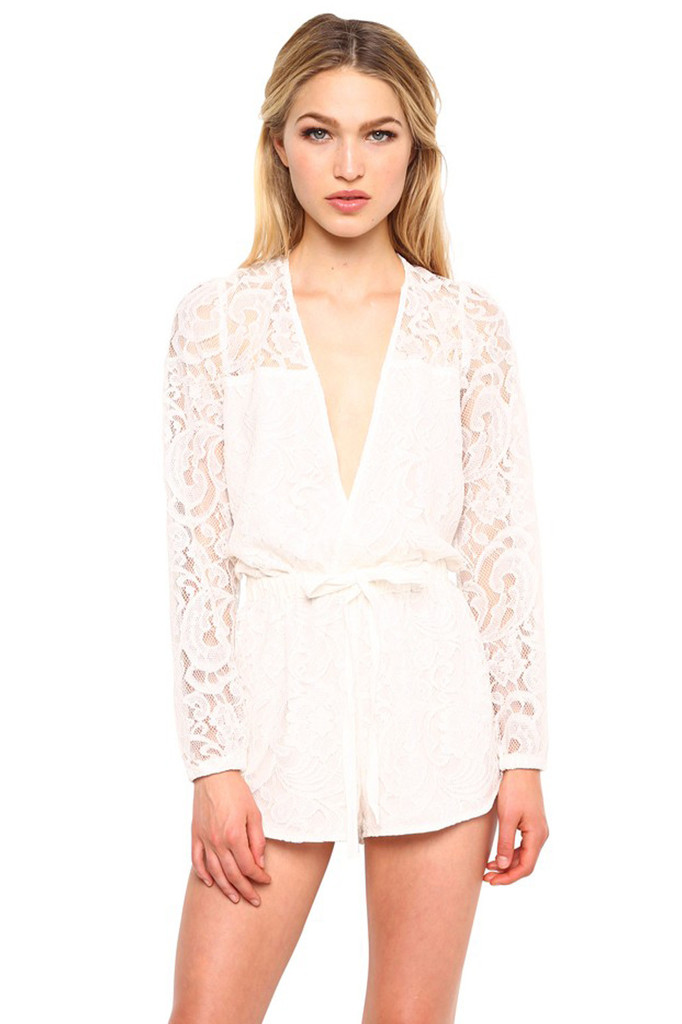 beauxx.com | Stylestalker On the Road Romper in White Lace
