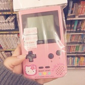 phone cover,gameboy,console,technology,pink,cute,hello kitty