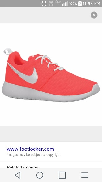 shoes nike nike running shoes nike shoes sneakers red orange nice girl colorful
