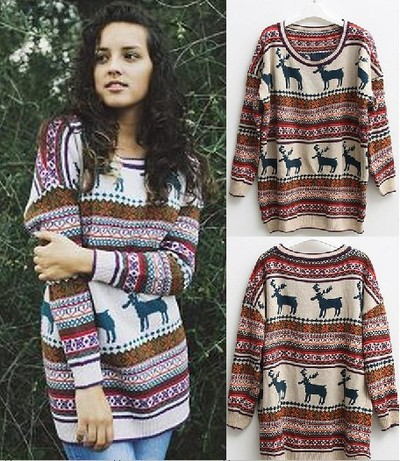 yourfashionsandcute | Nordic Print Oversized Knitted Jumper | Online Store Powered by Storenvy