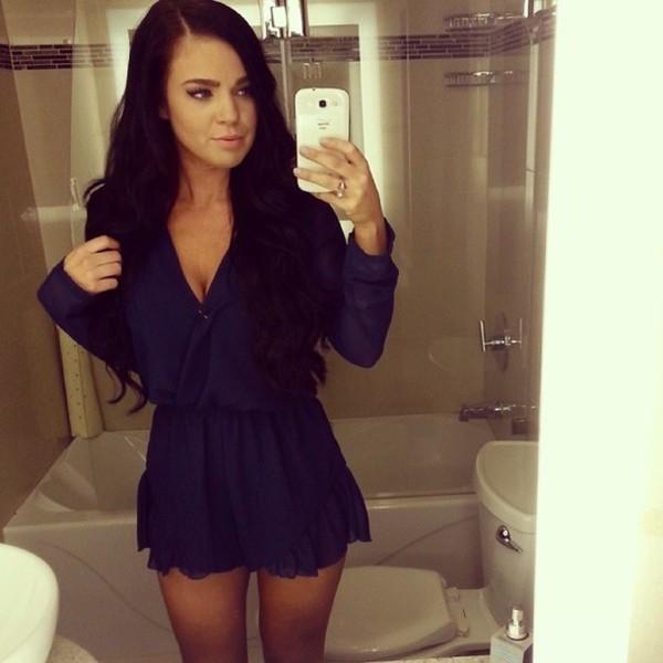 dress navy romper