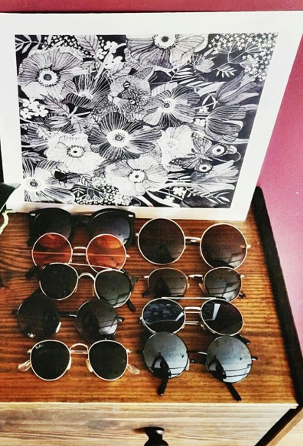 sunglasses summer outfits summer dress round sunglasses cool girl style sequin dress swimwear blue dress top