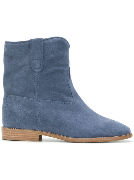 Isabel Marant women leather blue suede shoes