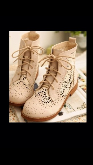 shoes boots combat boots cute lace crochet cute boots