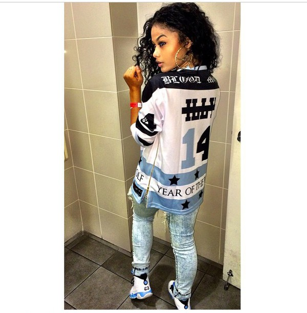 dope oversized shirt india westbrooks jeans shoes blue white black t-shirt jersey shirt zip shirt top sweater india westbrooks
