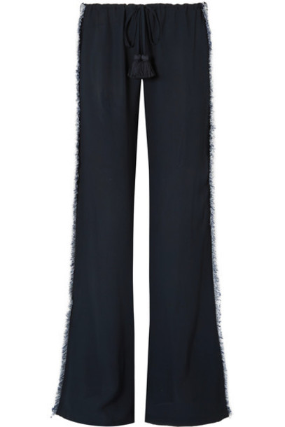 pants wide-leg pants navy