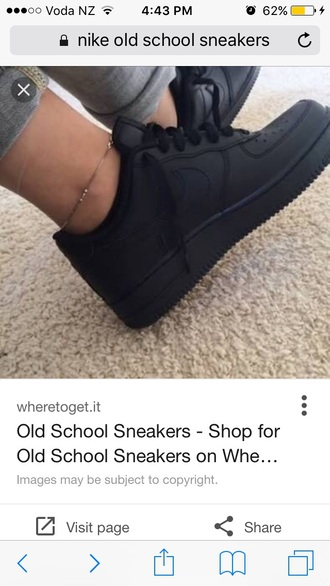 shoes nike old school black sneakers nike air force 1 low top sneakers nike shoes