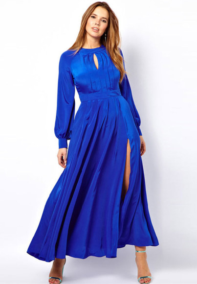 long dress color block