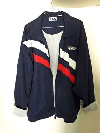 jacket fila bleu rouge blanc veste
