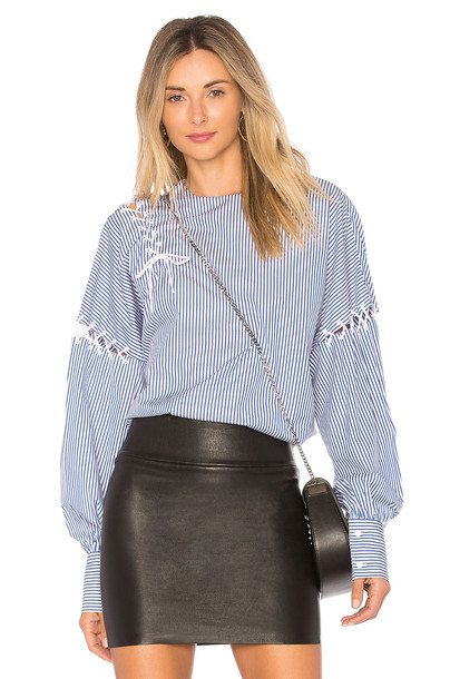 Tibi shirt stripe shirt blue top