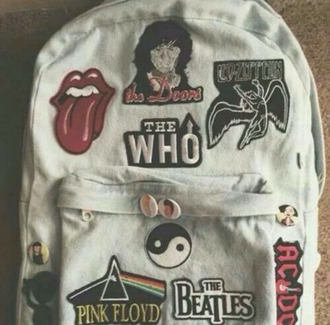 bag rooling stones beatles nirvana pink floyd 60s style rock