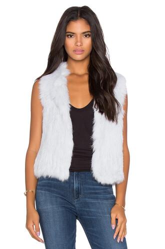 vest fur vest fur blue