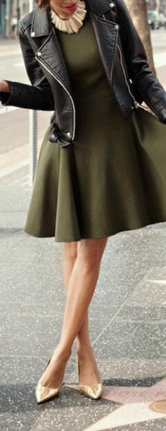dress olive green