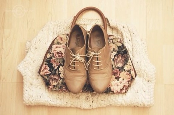 shoes bag brown shoes lace up oxford flats rounded toe dark brown, light brown