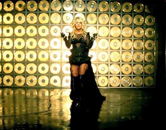 britney spears black dress sheer long sexy music video