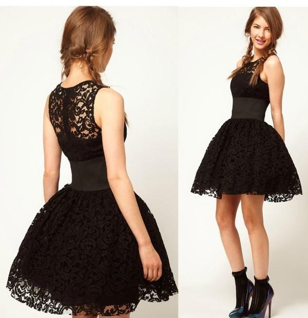 dress lace dress little black dress puffy dress