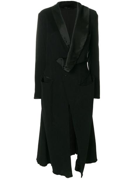 Adelbel coat women spandex cotton black silk