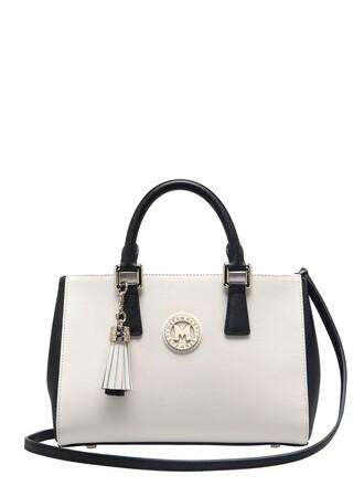 bag leather white black