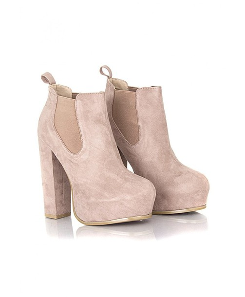 5554d9135ac8 shoes heels boots thick heel nude suede beautiful tall suede boots