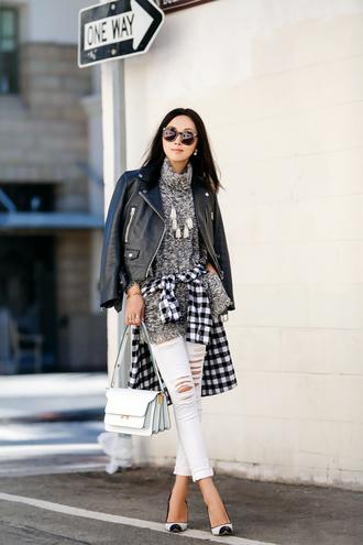 fit fab fun mom blogger top jacket shirt jeans bag shoes sunglasses jewels