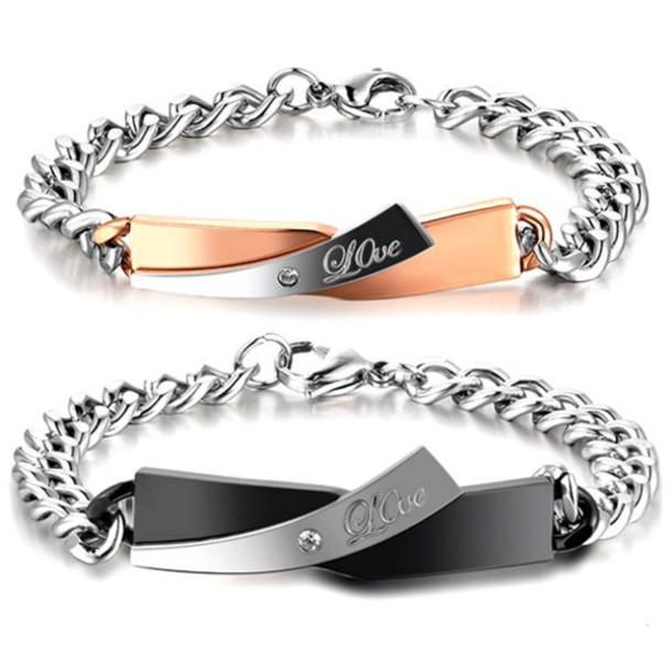 d13e7b049 jewels his and hers bracelets couples jewelry engraved jewelry engraved  bracelets couples bracelets set for him
