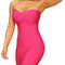 Bandeau midi bandage dress pink