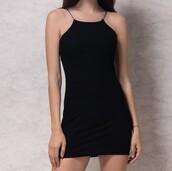 dress,girly,girl,girly wishlist,black dress,black,bodycon dress,bodycon,short dress,halter neck,halter dress,cute