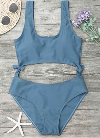swimwear girly cut-out one piece swimsuit one piece